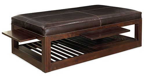 bernhardt park west 376 020 ottoman with shelf pull outs. Black Bedroom Furniture Sets. Home Design Ideas