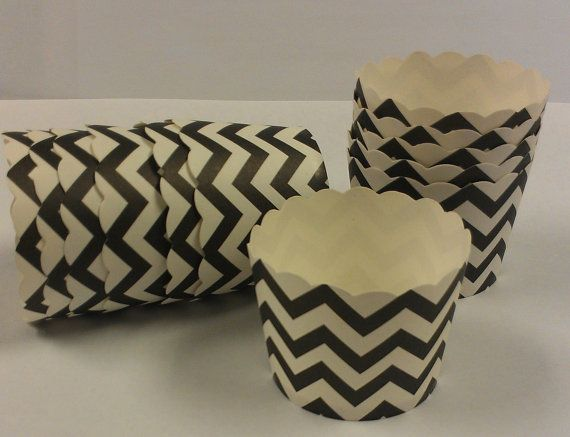 CHEVRON BLACK STRIPE Candy Cups  Birthday by SoSweetCandyBuffets, $3.99
