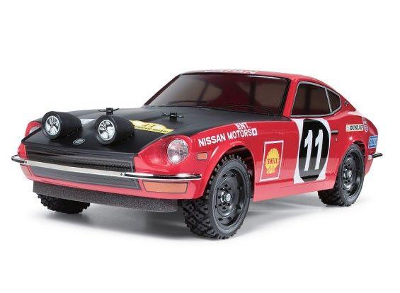 Tamiya 1 10 Datsun 240z Rally Car W Tt01e Chassis Kit 58462 Datsun 240z Datsun Chassis Kits