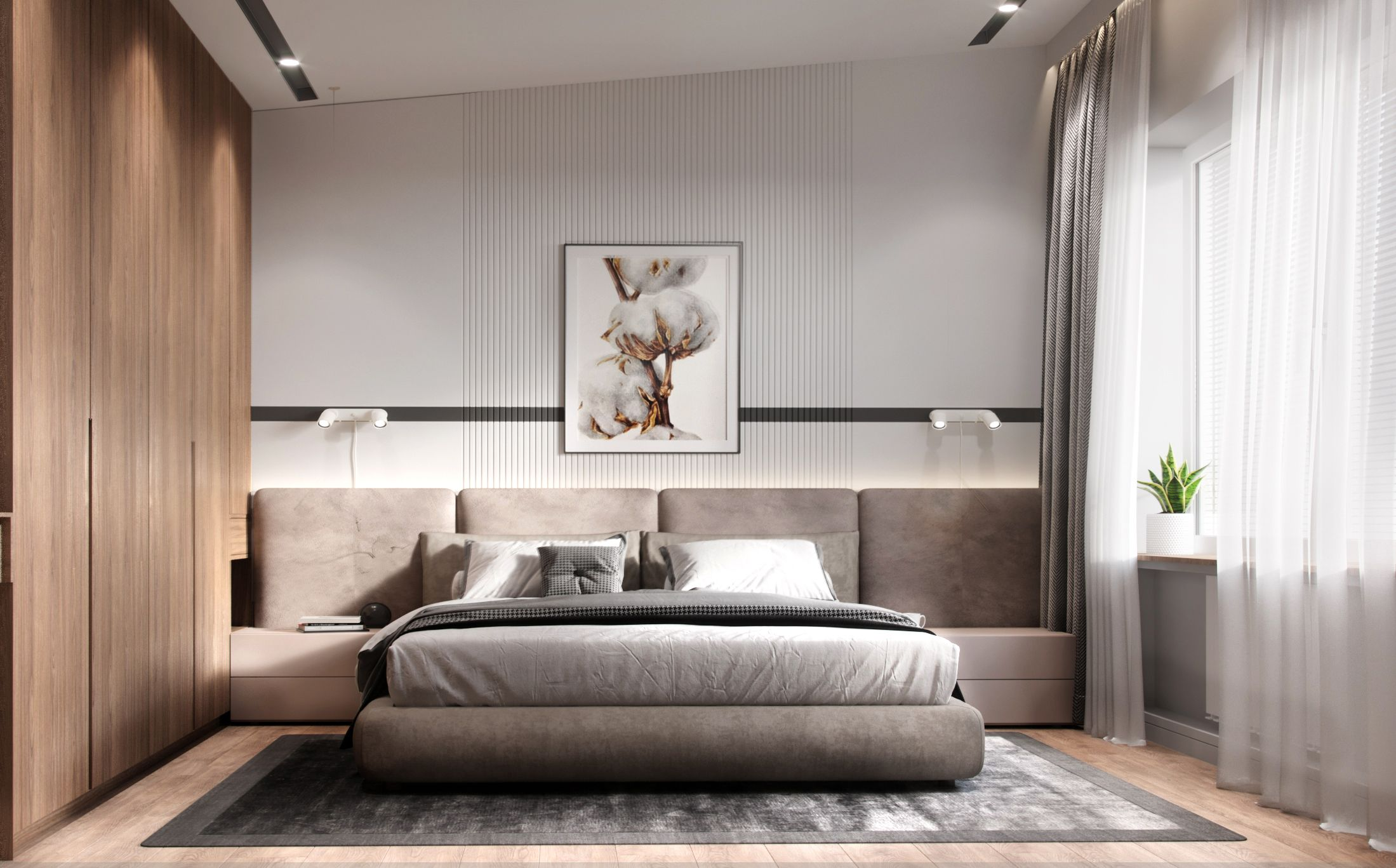 Bedroom Interior Design Wood White Scandinavian Style Minimalism Modern Scandinavian Design Bedroom Bedroom Interior Scandinavian Style Bedroom Bedroom design wooden interior