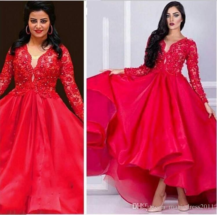 2016 New Gorgeous Lace Appliques Beaded Prom Dresses Plus ...