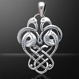 Sterling silver celtic zoomorphic crane pendant celtic sterling silver celtic zoomorphic crane pendant mozeypictures Choice Image