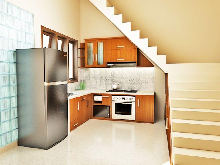 Desain Dapur Minimalis Di Bawah Tangga Terkini
