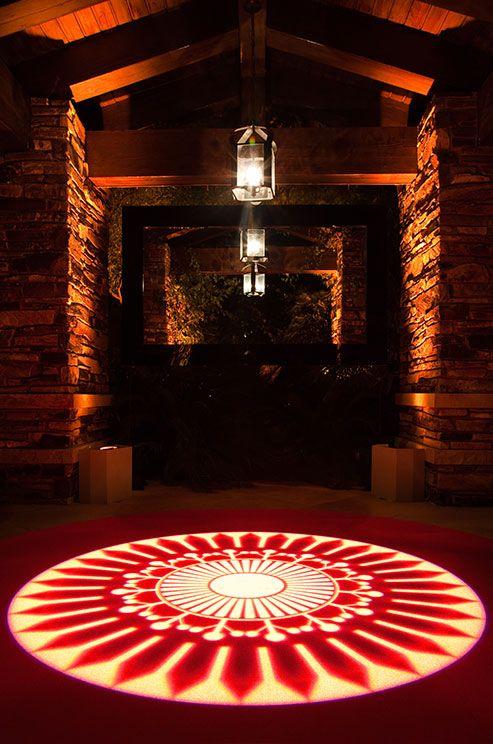 Textured lighting on the dance floor created using 4 gobo
