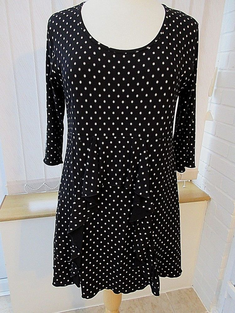 0fa360be442 Masai Clothing black/ivory starburst stretchy viscose tunic top fab  design(M) #fashion #clothing #shoes #accessories #womensclothing #tops  (ebay link)