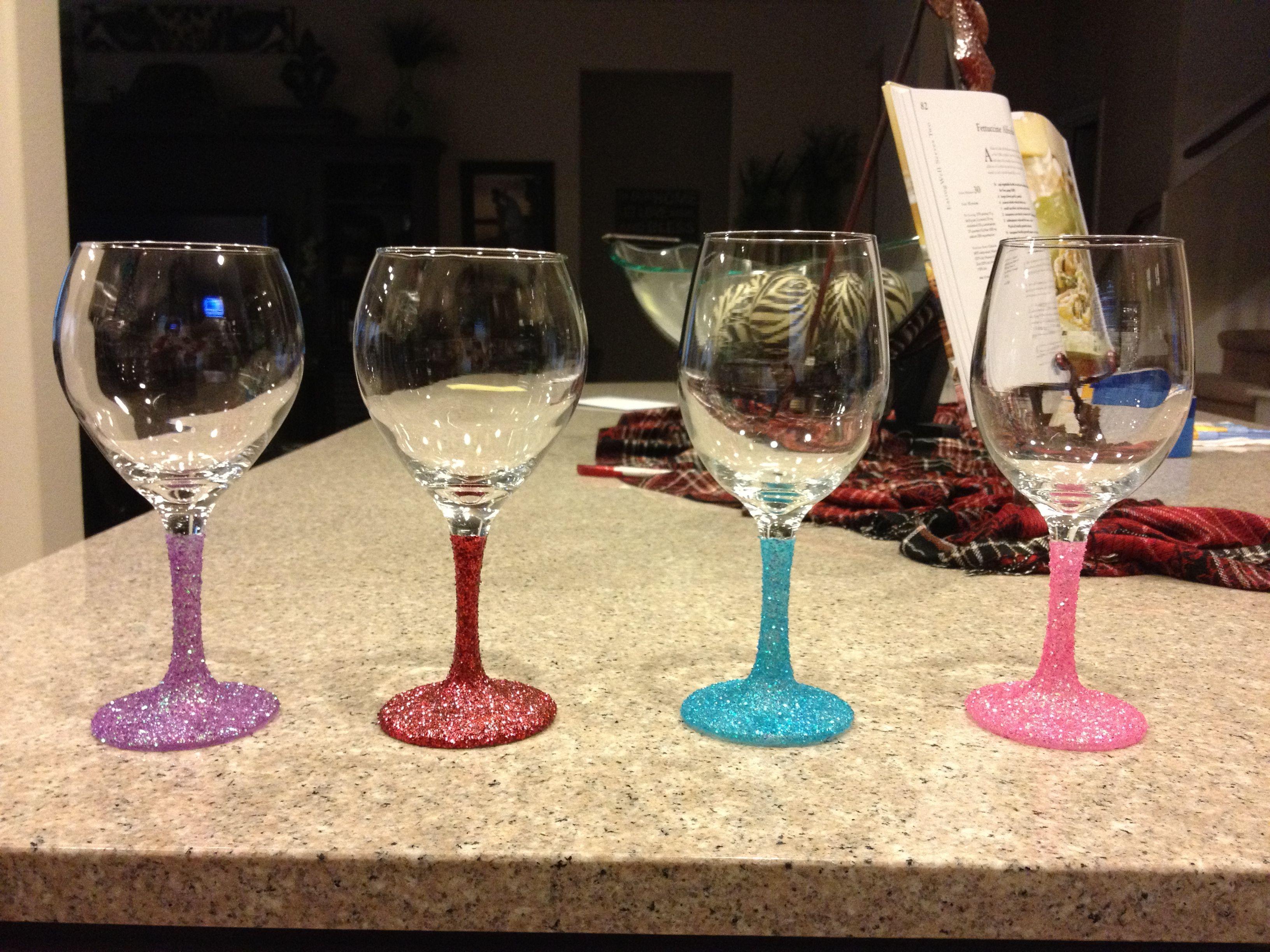 Glitter wine glasses!!!