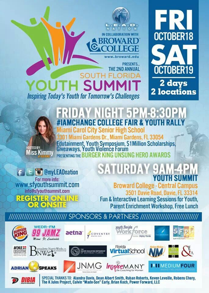 South Florida Youth Summit ~ October 18 & 19.