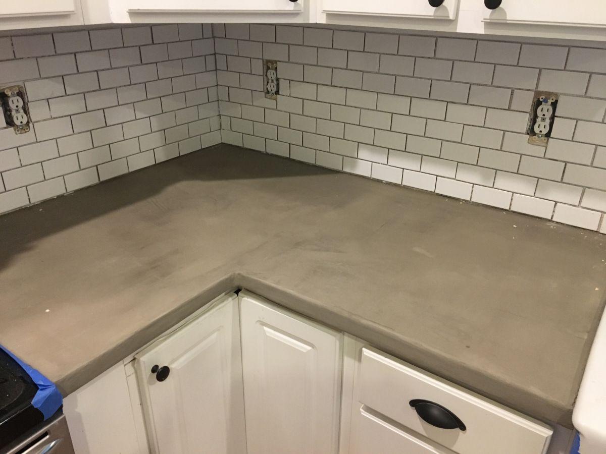 Easy Diy Concrete Counter Overlay Diy Concrete Counter Concrete