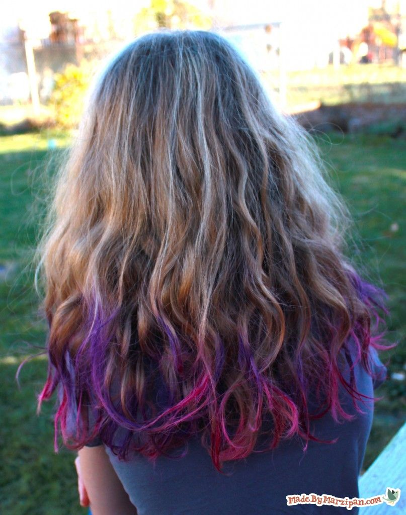 Chalked Hair Colored Hair Tips Hair Dye For Kids Temporary