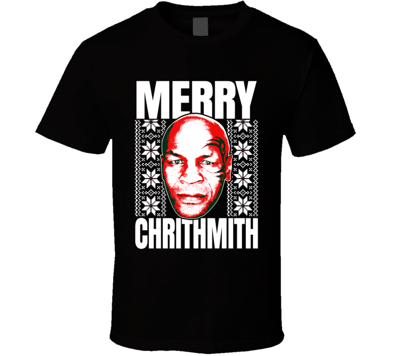 Mike Tyson Merry Chrithmith Ugly Christmas Sweater Holiday Party T