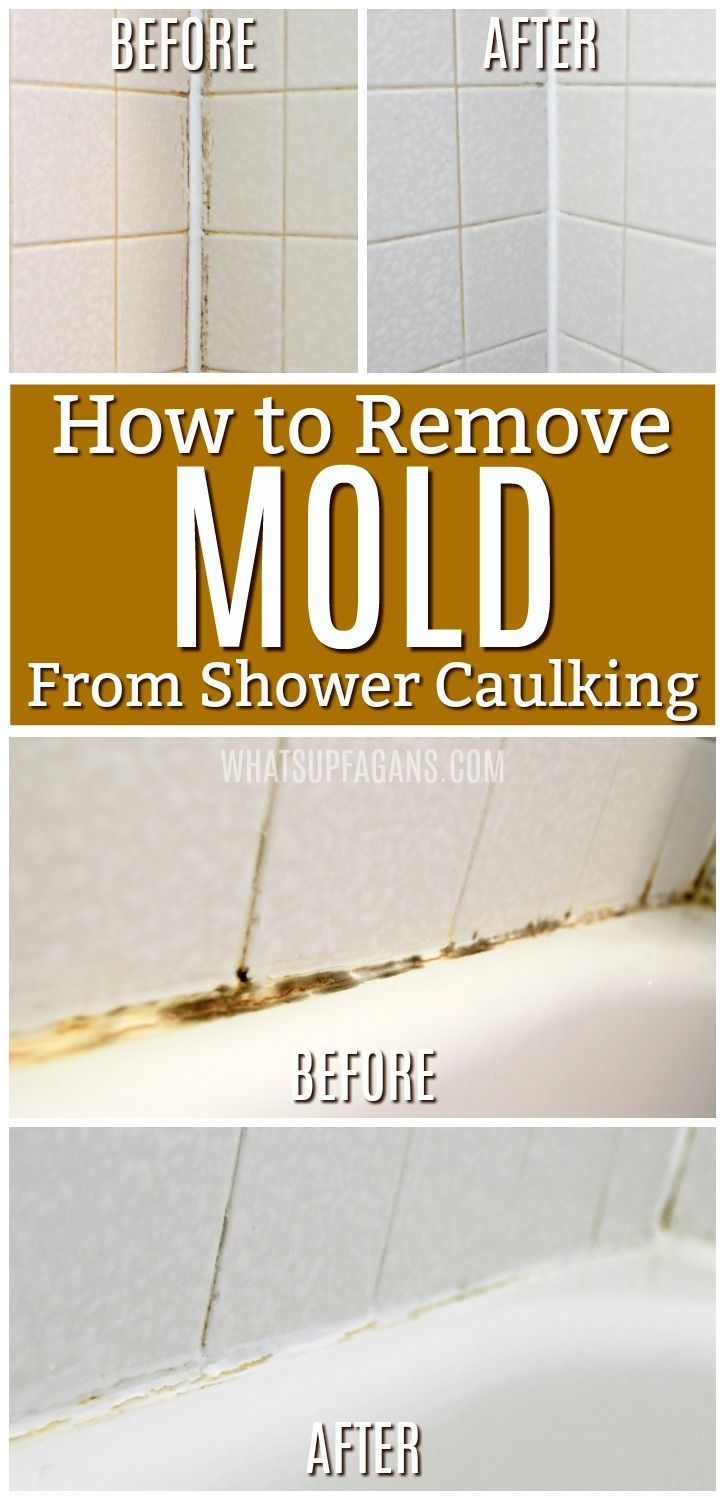 How To Get Rid Of Black Mold In Your Shower Caulking Mold In Bathroom Remove Mold From Shower Bathroom Cleaning Hacks