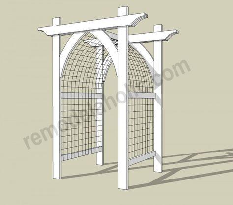 Vegetable Garden Arbor DIY Plans    Archway Trellis/gate For Entry.