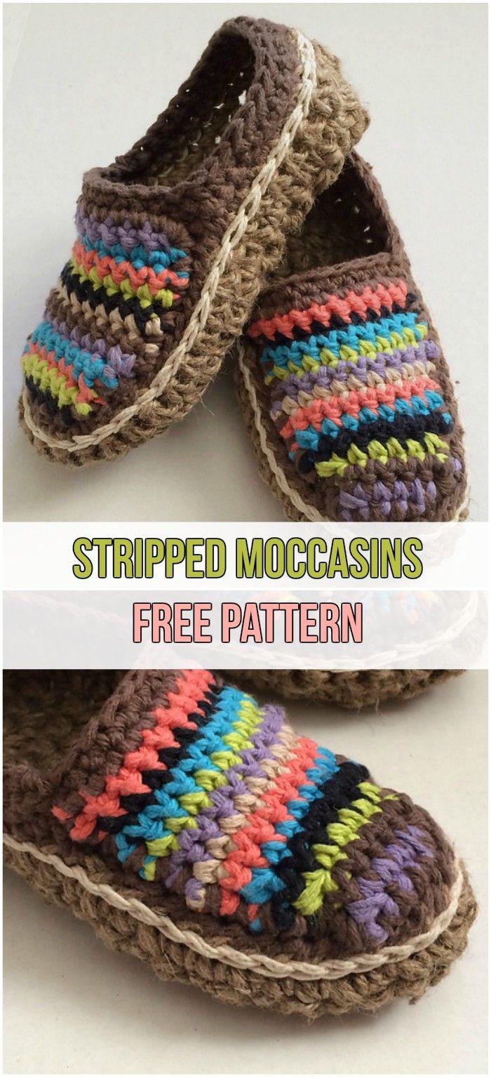 7 Easy Crochet Slippers Free Patterns | Häkeln, Sockenmuster ...