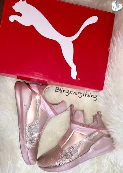 Kylie Jenner Blinged Pumas - Rose Gold Puma Fierce w  Swarovski Crystals  bbfef16d8