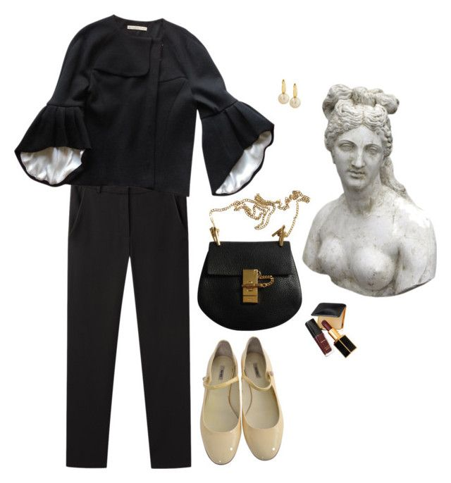 """Untitled #370"" by artisnonsense ❤ liked on Polyvore featuring Vanessa Bruno, Balenciaga, Miu Miu, Tom Ford, Romanelli and Belpearl"