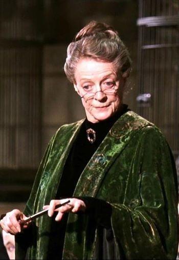 Maggie Smith As Professor Minerva Mcgonagall Harry Potter Series 2001 2011 Atores De Harry Potter Harry Potter Filme Produtos Do Harry Potter