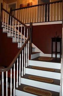 Best Painted Stairs Previously Carpeted With Images 400 x 300