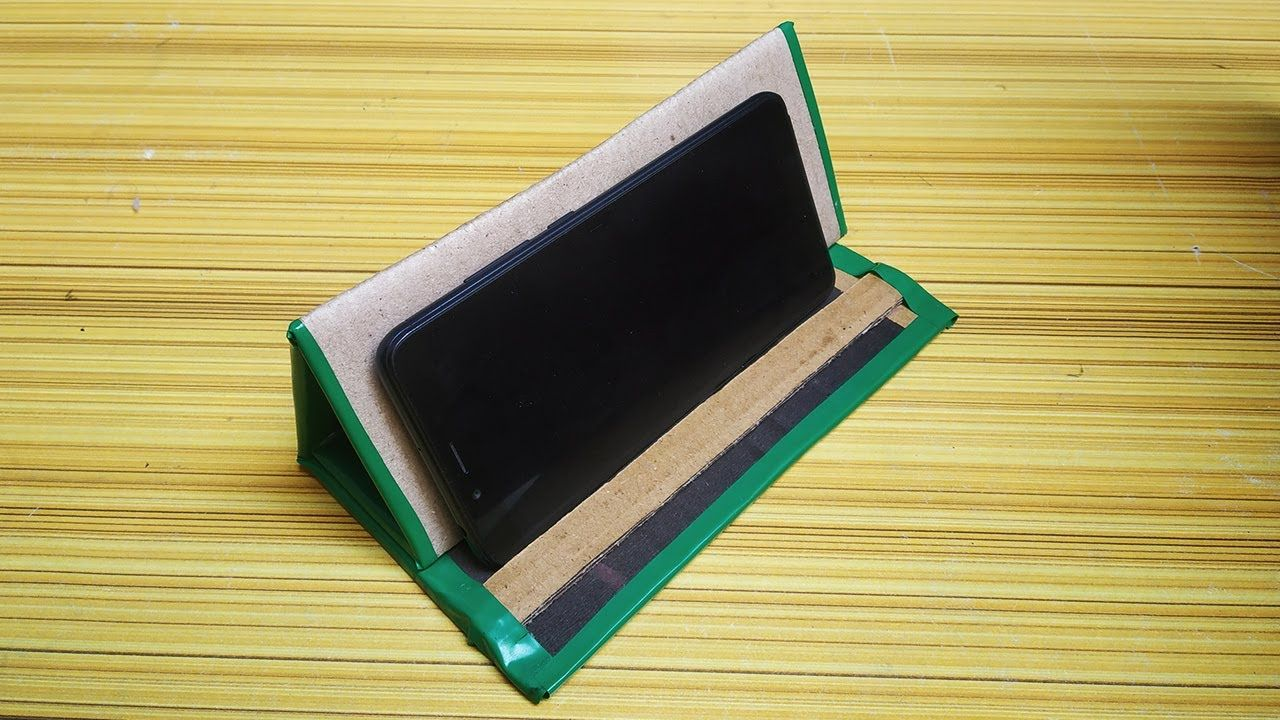 Diy cardboard tablet mobile stand homemade best out of