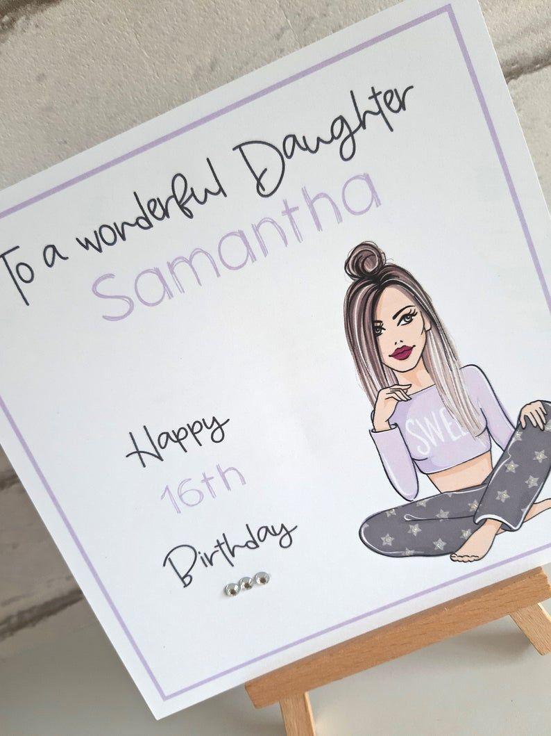 Handmade Personalised Teenage Girl S Birthday Card Daughter Granddaughter Friend Niece 15th 16th 17th Girl Birthday Cards Teenage Girl Birthday Birthday Cards
