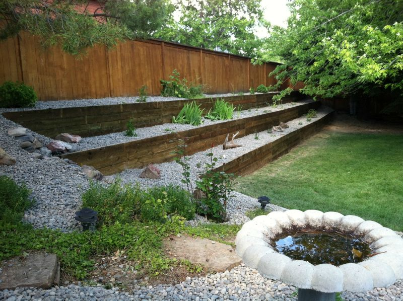 Railroad Ties Retaining Wall - Google Search | Landscaping And