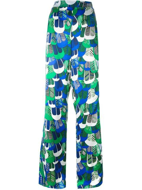 DSQUARED2 Patterned Wide Leg Trousers. #dsquared2 #cloth #trousers