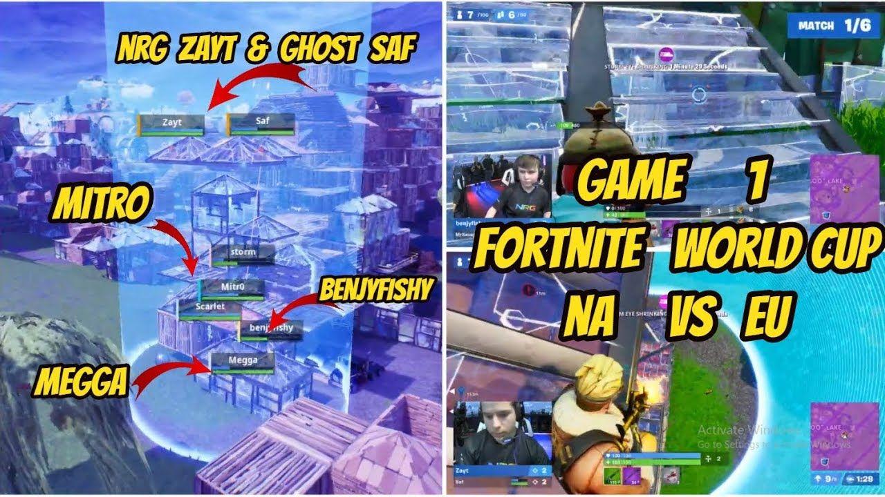 Ghost Saf Nrg Zayt Vs Mitro Vs Faze Megga Game 1 Fortnite Worldcup Fortnite Game 1 Ghost