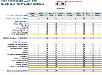 Weekly Cash Flow Workbook Cash Flow Workbook Time Sheet Printable