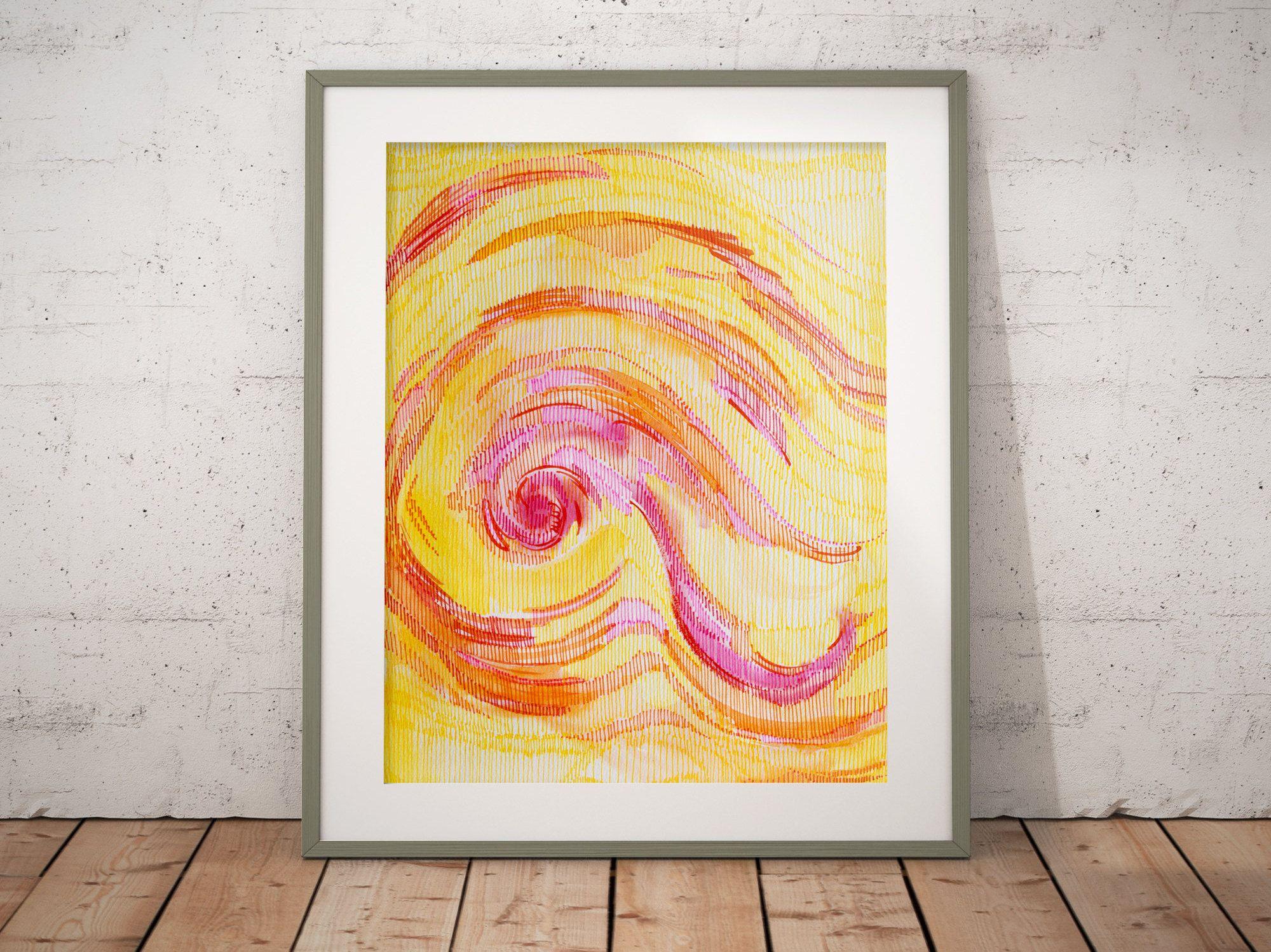 Abstract art gallery wall decor,original art prints,handpainted ...