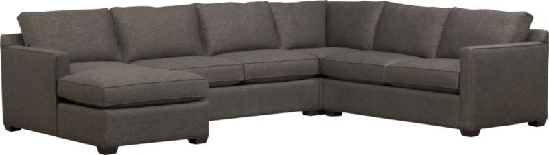Phenomenal Davis 4 Piece Sectional Sofa Crate Available In Aqua My Gmtry Best Dining Table And Chair Ideas Images Gmtryco