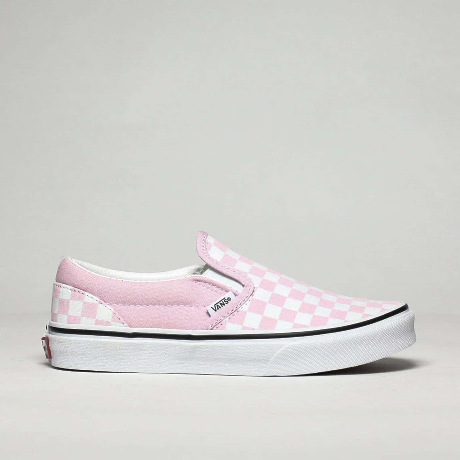 Girls Pink Vans Classic Slip-on