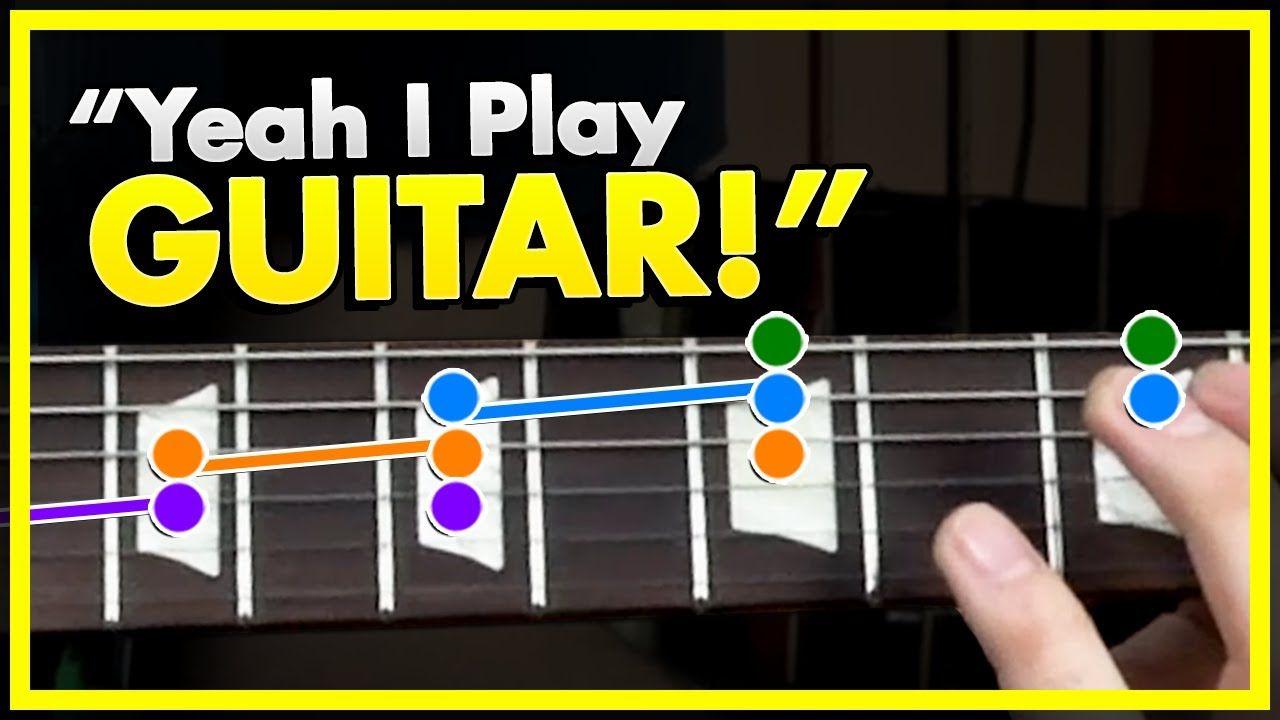 The Yeah I Play Guitar Lick Youtube Playing Guitar Guitar Play