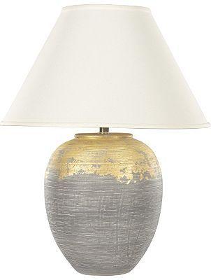 Havertys   Gilded Granite Table Lamp
