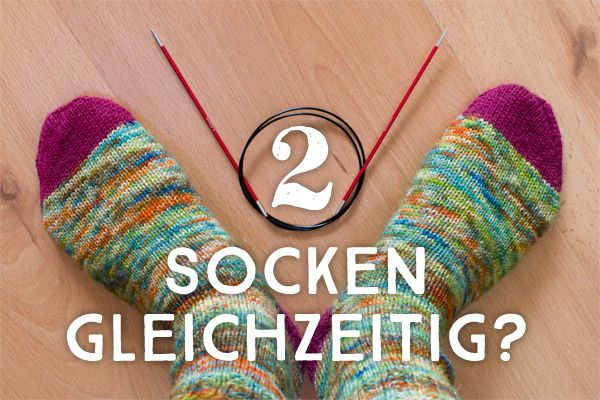 Photo of Ade, single socks! With this technique you knit two socks at the same time on a …