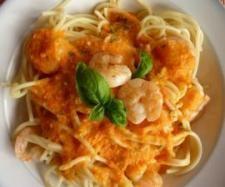 Rezept Spaghetti mit Paprikasoße und Garnelen von dani66 - Rezept der Kategorie Hauptgerichte mit Fisch & Meeresfrüchten