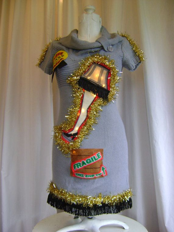 Leg Lamp A Christmas Story Sweater Dress Ugly by Thecostumestop