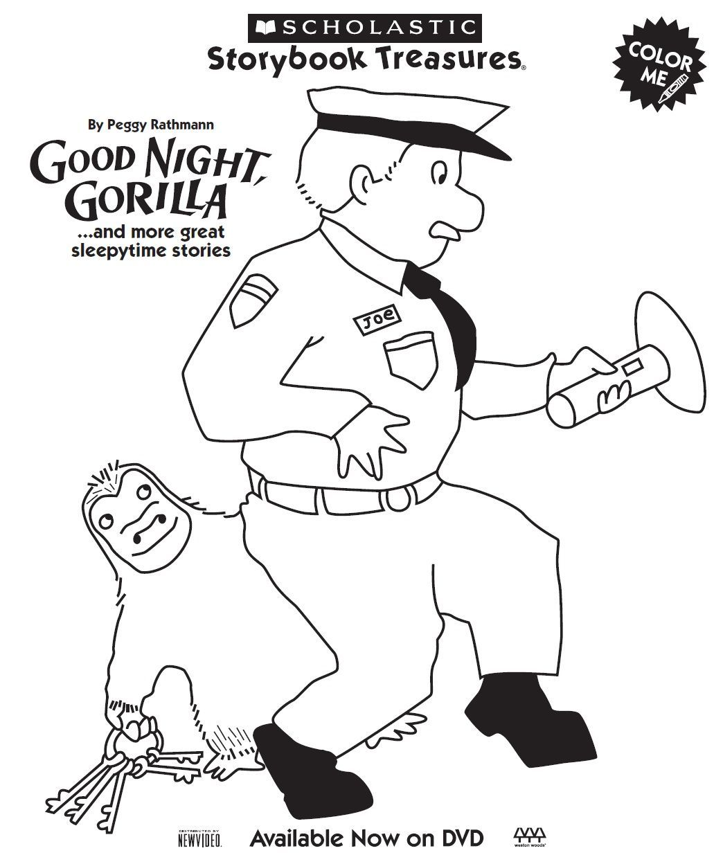 Goodnight Gorilla Coloring Page Fun Pinterest Zoo Preschool With