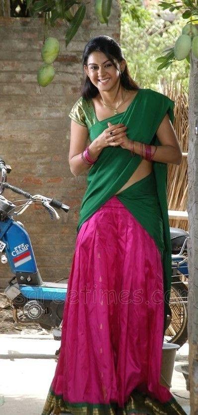 8e15257894 South Indian style half sari. | Sari in 2019 | Half saree, Half ...