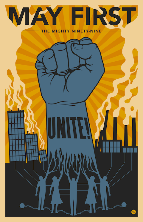 May first day. Occupy s poster for