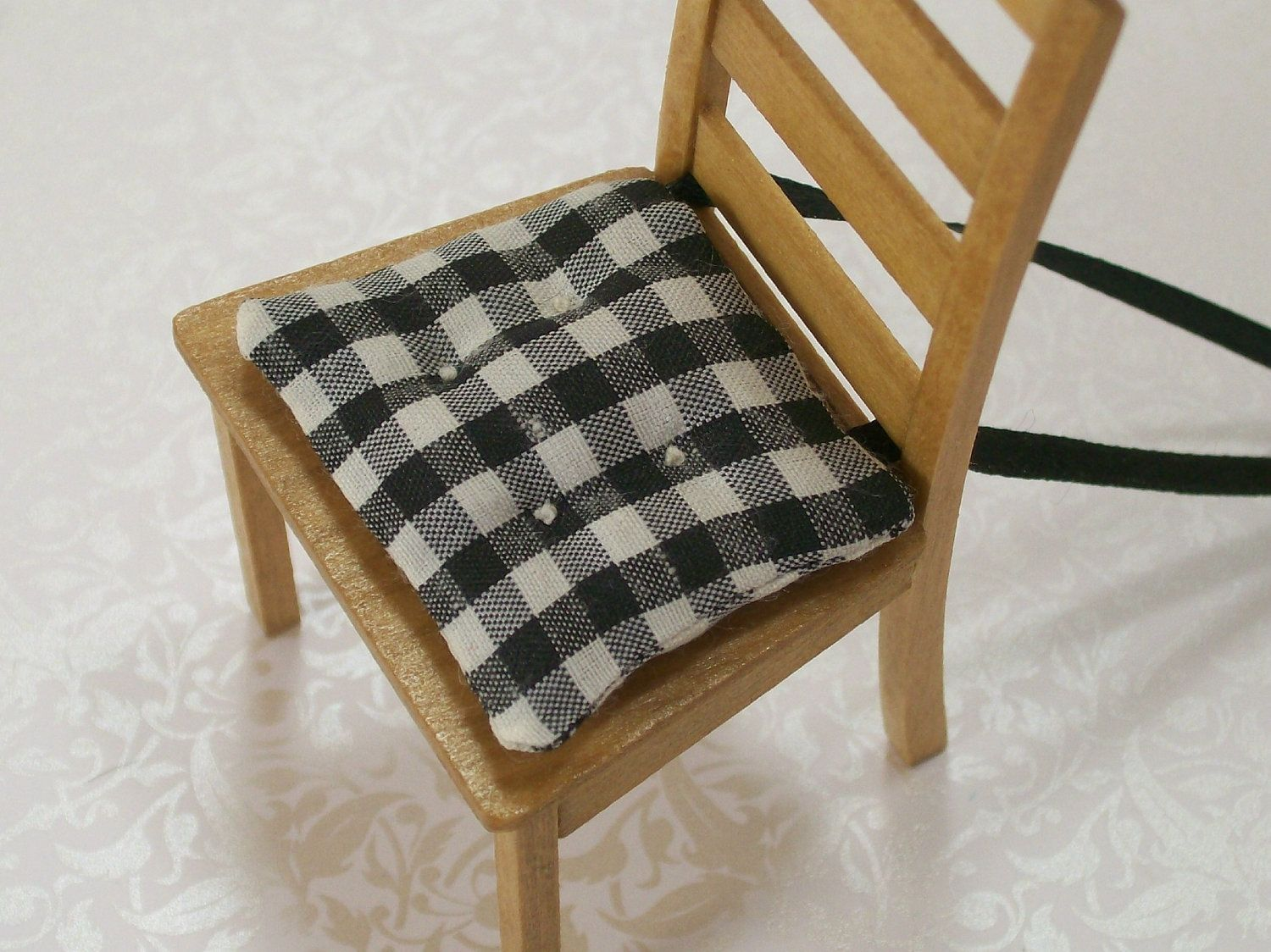 Black And White Kitchen Chair Pads