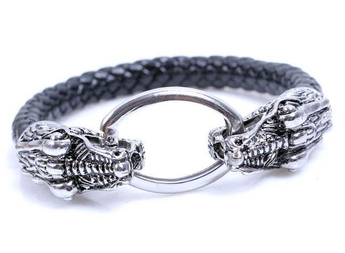 Unisex Dragon Oval Alloy Fastener Round Bracelet  $16.99
