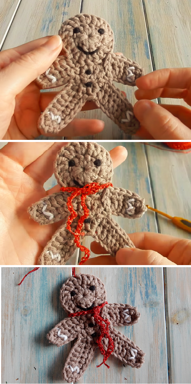 Crochet a Gingerbread Man Christmas Decoration – Crafting Time ...