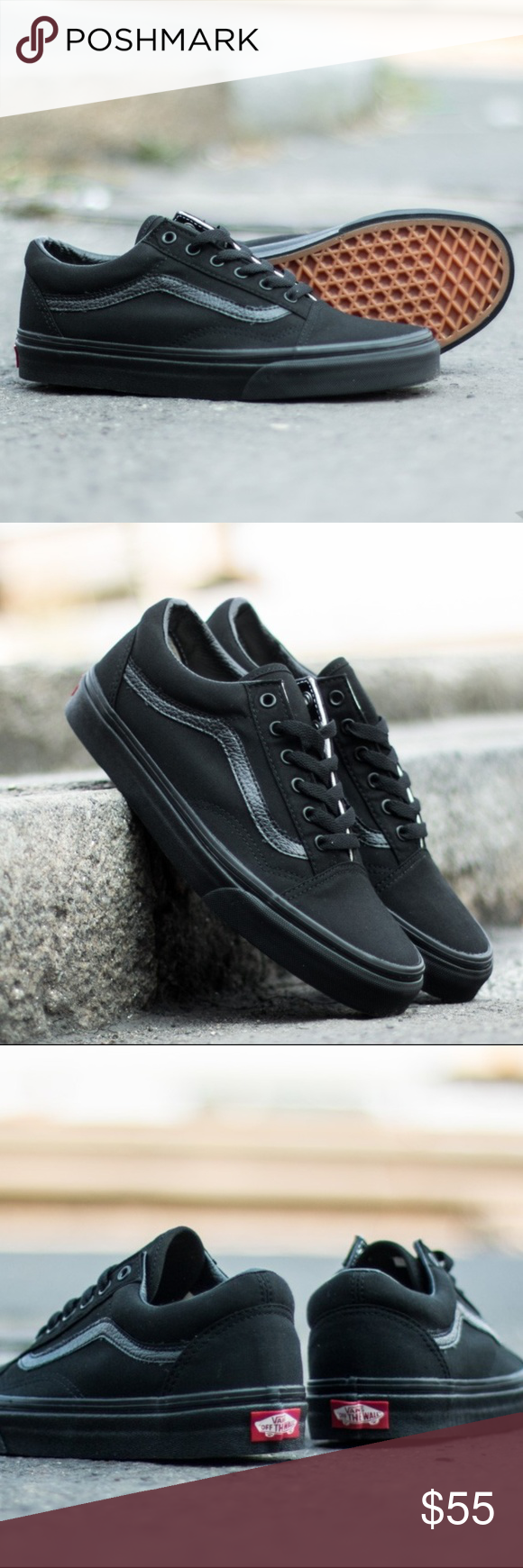 c637e087c0 Vans Old Skool black women size 6.5 - new in box New in boxes. Black canvas  top