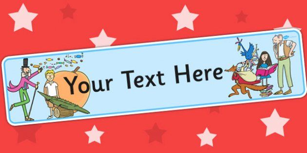 Roald Dahl Themed Editable Display Banner for Publisher   Library ...
