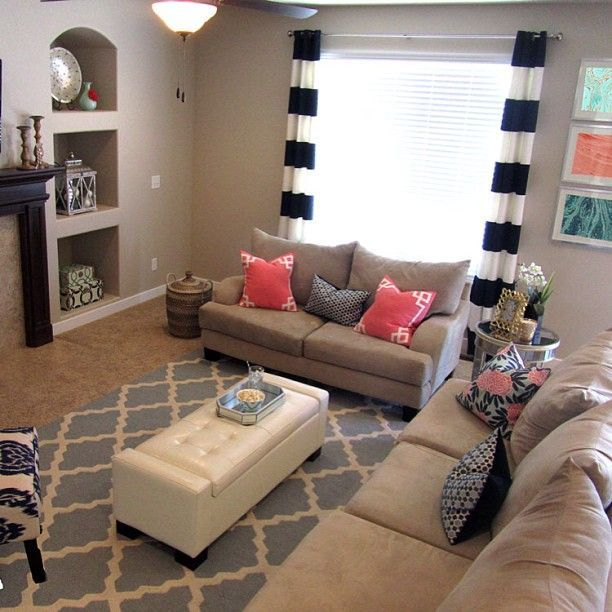 62 Best Teal Living Room With Accents Of Grey Orange: Coral And Navy Living Room