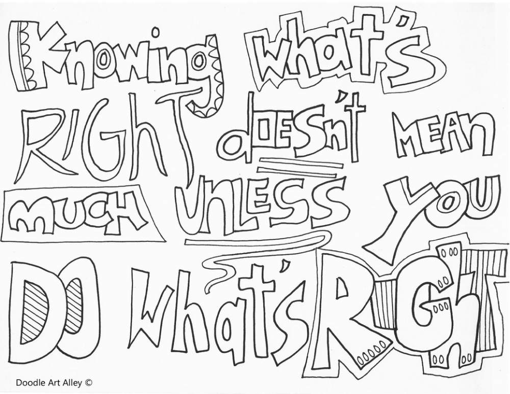 No Bullying Coloring Pages Classroom Doodles Quote Coloring Pages Coloring Pages Color Quotes