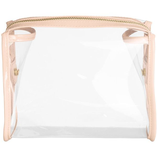 H&M Transparent make-up bag (250 UYU) ❤ liked on Polyvore featuring beauty products, beauty accessories, bags & cases, bags, hm, pink, travel kit, cosmetic purse, travel bag and makeup purse