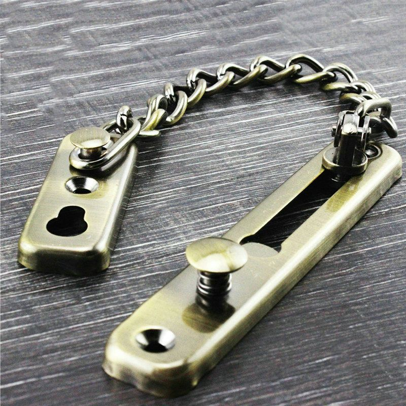 1pcs Door Chain Safety Guard Latch Security Peep Bolt Locks Cabinet