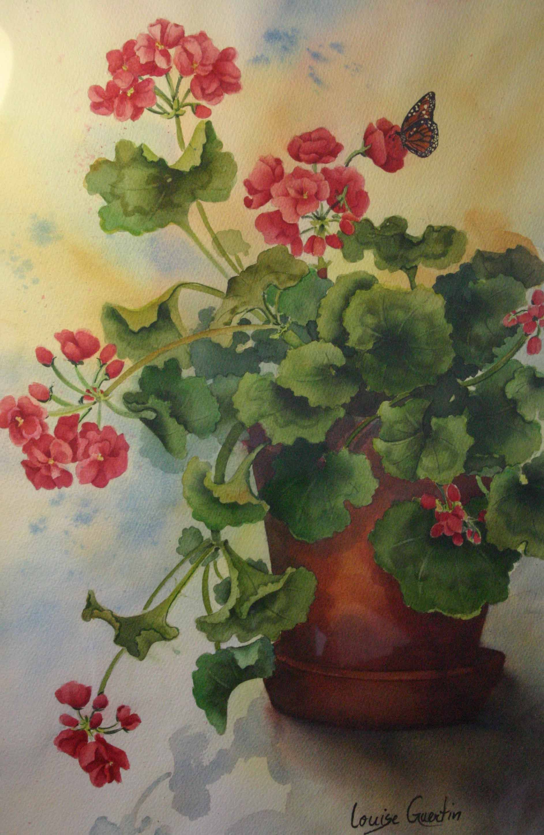 Louise Guertin Gourmandise Watercolor Art Floral Painting