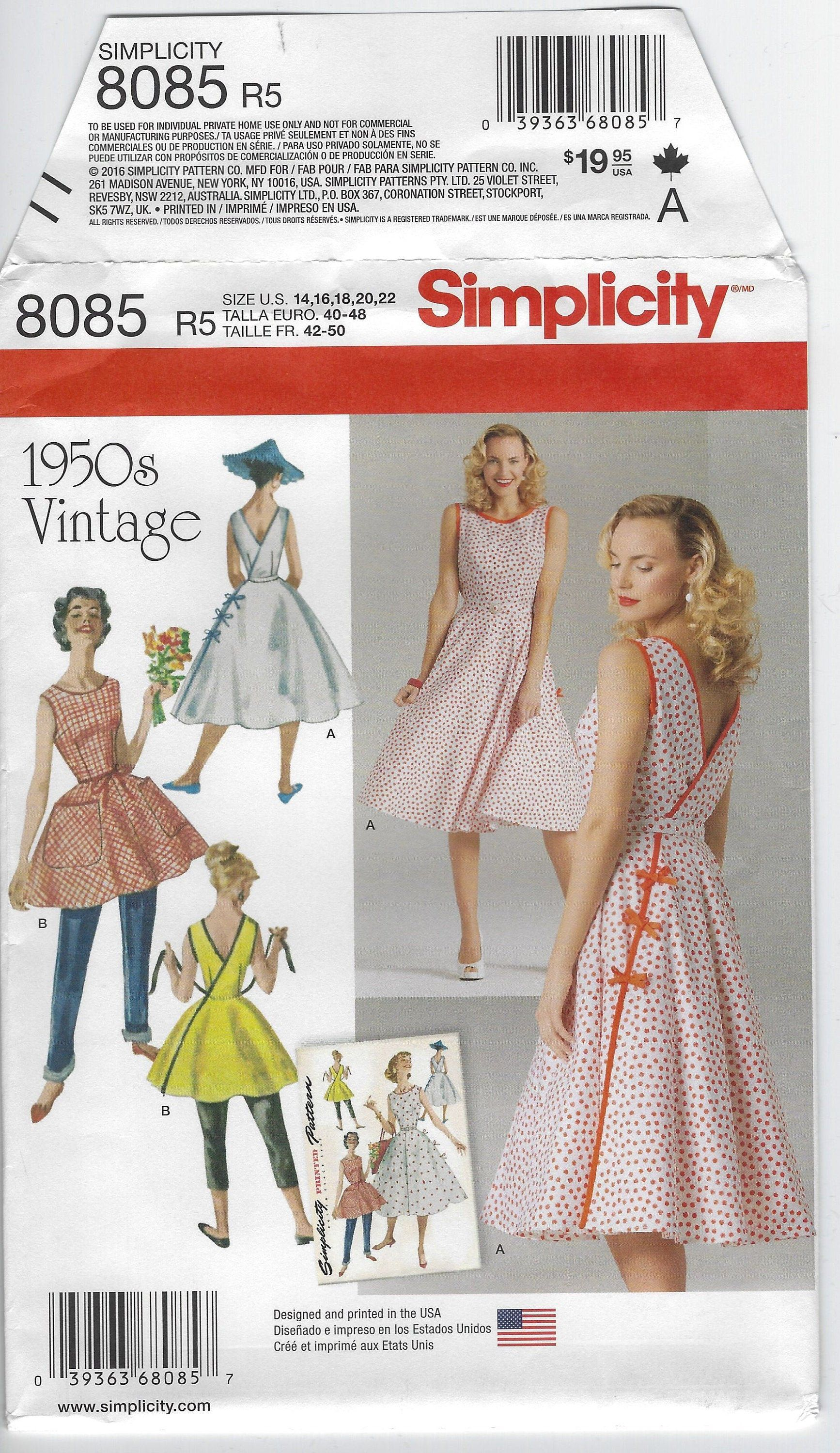 Close Fit Bra Bodice Dress Straps Pleated Skirt Sewing Pattern Sz 14 16 18 20 22