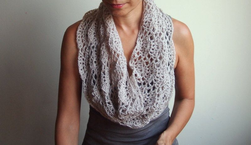 Infinity Scarf Pdf Crochet Pattern Capelet Shrug Lace Loop Diy